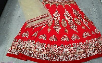 Indian Party Wear Designer Wedding  Bridelware Bollywood Red. Code -T01