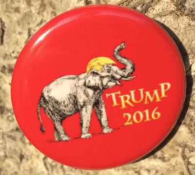 Trump Red  Baby Elephant 2016 Political Button Pin 1.5 Inch Really Cool