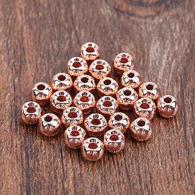 25 Tungsten Fly Tying Beads Nymph Fishing Head Ball Various Sizes Copper
