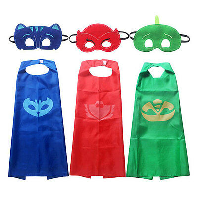 1 Set Cloak Cape Mask Superhero Owlette Catboy Cosplay Kids Costume Party Gift