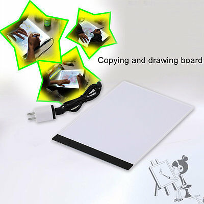 Pratical A4 LED Light Pad Copy Pad Drawing Tablet LED Tracing Painting Board AU
