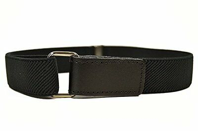 Childrens 1-6 Years Fully Adjustable Elasticated Belt W/ Fastening Black