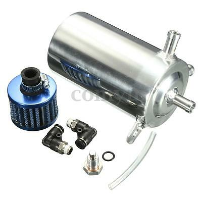 Car Aluminum Alloy 0.5L Oil Catch Tank Can Breather Filter Round Barb For Racing