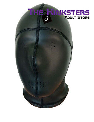 Neoprene Hood With Pinholes For Eyes & Mouth Black / Kink Leather Interest
