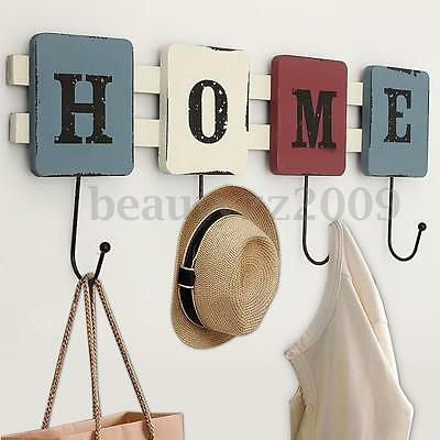 Vintage HOME Wall Hooks Clothes Robe Key Holder Hat Hangers Home Decorations