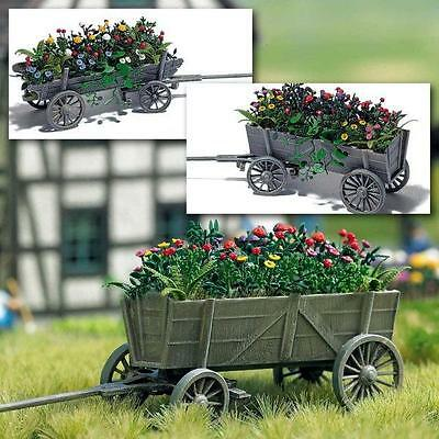 Busch Wooden Cart With Flowers 1228 HO and OO Scale