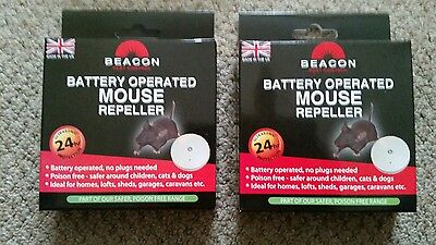 2 x BEACON BATTERY OPERATED MOUSE REPELLER