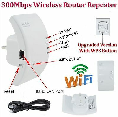 300Mbps Wireless N 802.11 AP Wifi Range Router Repeater Extender Booster LOT LS