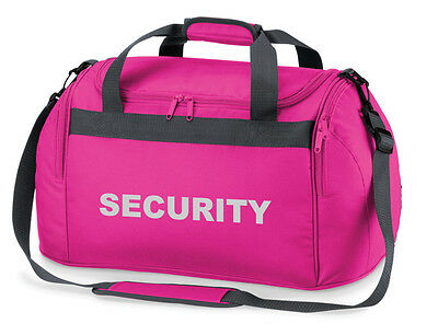 1 x SECURITY Pink Holdall/Work Bag Ideal for SIA, SECURITY, PATROL, DOOR STAFF