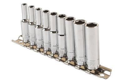 Ba Deep Socket Set 1/4 Drive 0Ba To 8Ba On Socket Rail