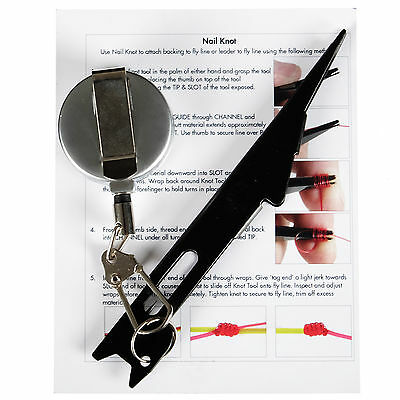 SF Fly Fishing Nail Knot Fast Tyer Tie Tying Tool with Retractor Zinger 60CM