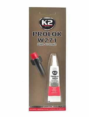 K2 PROLOK Thread Locker HIGH STRENGTH Temperature Anaerobic 6ml Lock Screw
