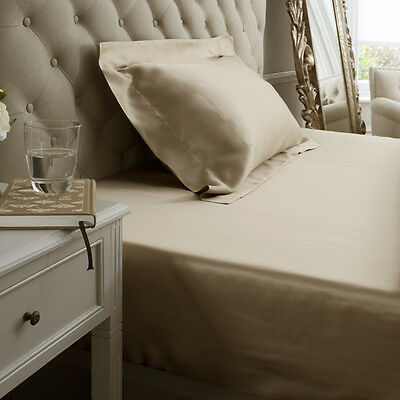 Jasmine Silk 100% 19 MM Charmeuse Silk Fitted Sheet (Taupe) - DOUBLE