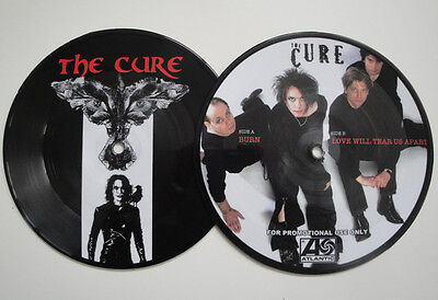 """THE CURE - BURN 7"""" RARE PROMOTION PICTURE DISC JOY DIVISION Limited"""