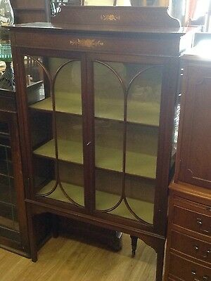 **FREE MAINLAND UK DELIVERY** Beautiful Edwardian China Cabinet Inlaid Mahogany