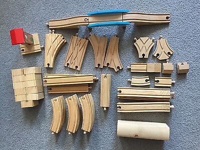 Wooden Railway Train Wood Track Tunnel Switches Lot Thomas Brio Compatible