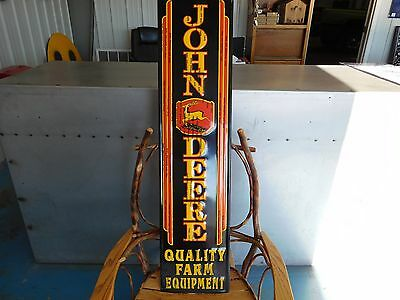 "NEW John Deere LARGE 47"" Farm Tractor Ag Retro Look LOGO Aluminum Barn SIGN BIG"
