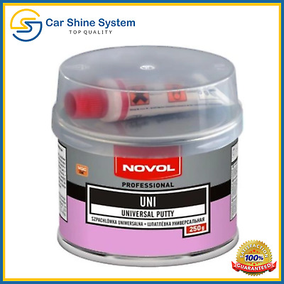 NOVOL UNI Car Body Filler Universal Hard Putty Dent Repair 250g with Hardener