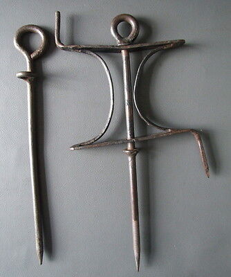 Antique or vintage garden line winder and pin row marker
