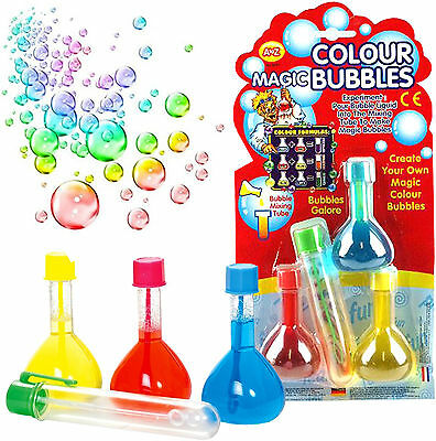 Magic Rainbow Bubbles Childrens Outdoor Toy Gift Xmas Christmas Stocking Filler