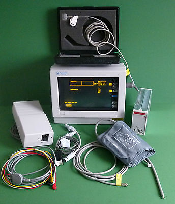 Spacelabs 90309 Patient Monitor with SpO2,NIBP,Temp,CO2 Modules Touchscreen
