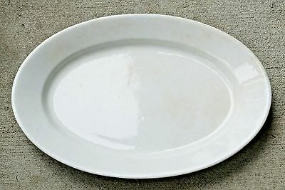 "Henry Alcock White English Ironstone 17"" Plain Dense Oval Platter 1910-1935"
