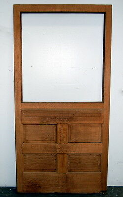 Antique Quarter Sawn Oak Pocket or Sliding Barn Door, Architectural Salvage