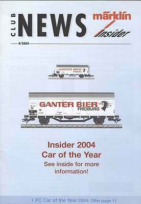 CLUB NEWS MARKLIN INSIDER n. 4/2004  INGLESE