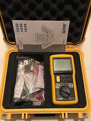 AEMC 1045 9-Piece Megohmmeter Field Kit with Meter Leads Probes Case 2117.31