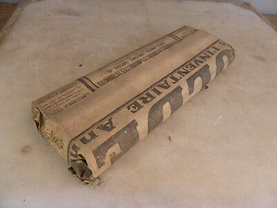 Packet of 3 large antique test tubes from French laboratory
