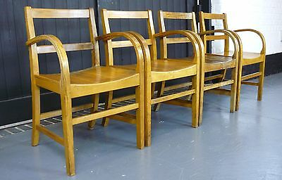 A Cracking Set of Four Vintage Air Ministry Arm/Office Chairs