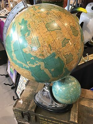 Chinese Vintage Globe With Teresital Globe Exceptional Rare