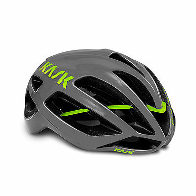 kask protone anthracite lime size L