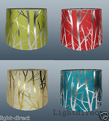 """11"""" Fabric Tree  Branch Empire Drum Shade Table Ceiling Light Lampshade New"""