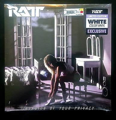 """Ratt """"Invasion Of Your Privacy"""" Exclusive Limited White Vinyl Sealed! SALE!"""