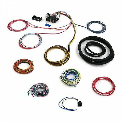 12v 18 Circuit 12 Fuse Universal Wiring Harness Kit 4x4 4wd hot rod