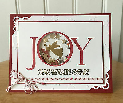 Christmas card kit -JOY with shaker - md w/ Stampin Up product