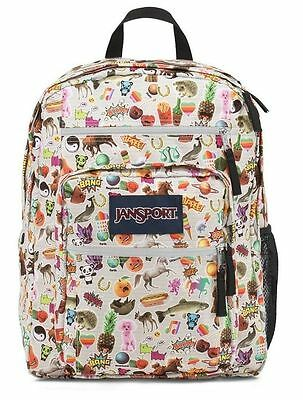 New Girls JANSPORT Big Student Backpack Bookbag Multi Stickers Large Nwt School