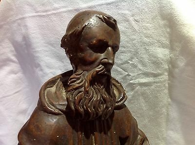 Antique, Religious, Wooden Statue.Francis Of Assisi.