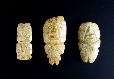 Pre-Columbian Artifact, Three figures, Stone