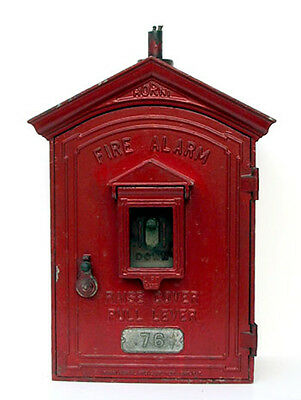 Fire Department Alarm Box - New York City, Painted Cast Metal