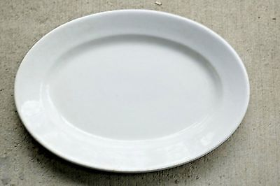 "Meakin Brothers Dense White English Ironstone 14"" Plain Oval Platter 1851-1859"