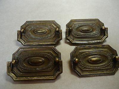 4  Vintage KEELER BRASS #H334 Hepplwhite Pull w/ Bail, Screw Holes 2 1/2  Four