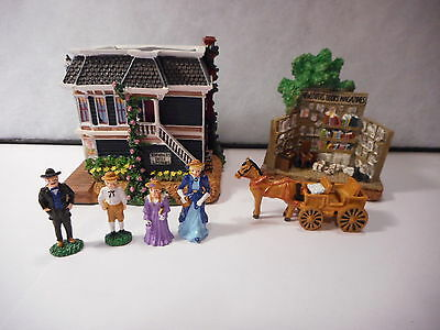 Liberty Falls Americana Collection Vaudeville Music Hall Newsstand People Access
