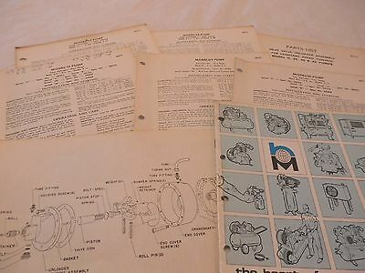 Pacemaker Air Compressor Operating Instructions And Part Listing Several Models