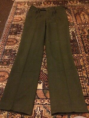 1980s British Army Barrack Dress Trousers Size 20