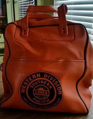 Vintage Railroad Bag Western Division Southern Pacific Lines 1977 Safety Award