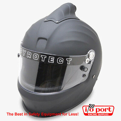 Pyrotect Pro Sport Top Forced Air Full Face Helmet, SA2015, Flat Black, Large