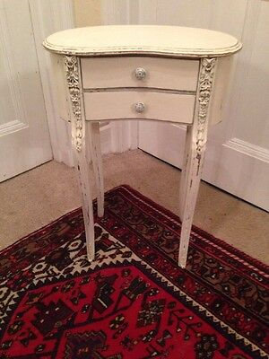 Single Cream Shabby Chic Vintage Distressed Bedside Table