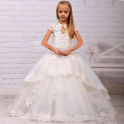 Communion Party Prom Princess Pageant Bridesmaid Wedding Flower Girl Dress